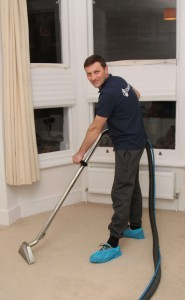 carpet technician posing for a picture