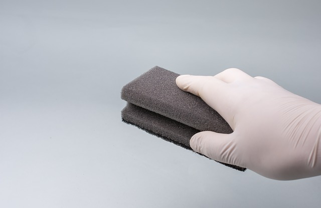 Use a slightly damp sponge to prevent spreading the stain on your carpet.