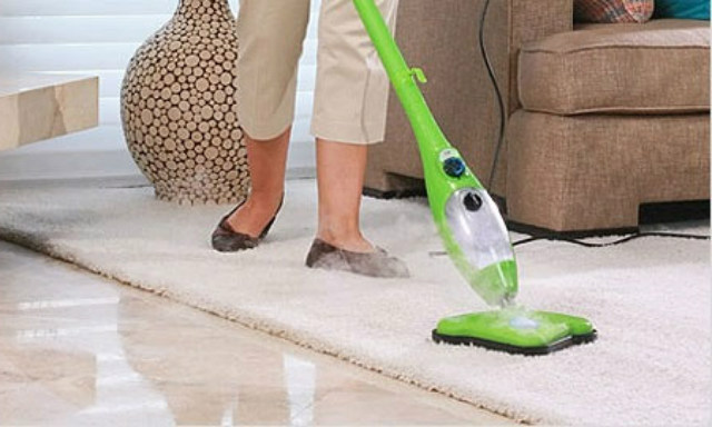 Invest in a steam cleaning mop, or in a hand steamer.