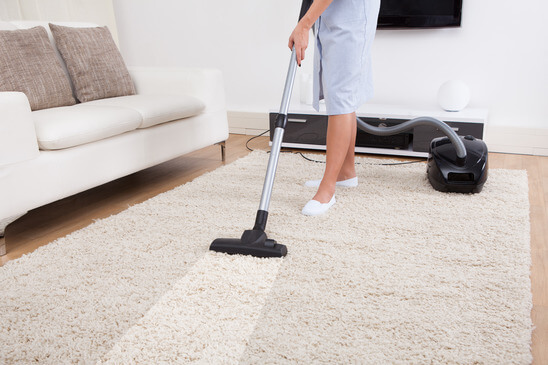 Vacuum after carpet cleaning